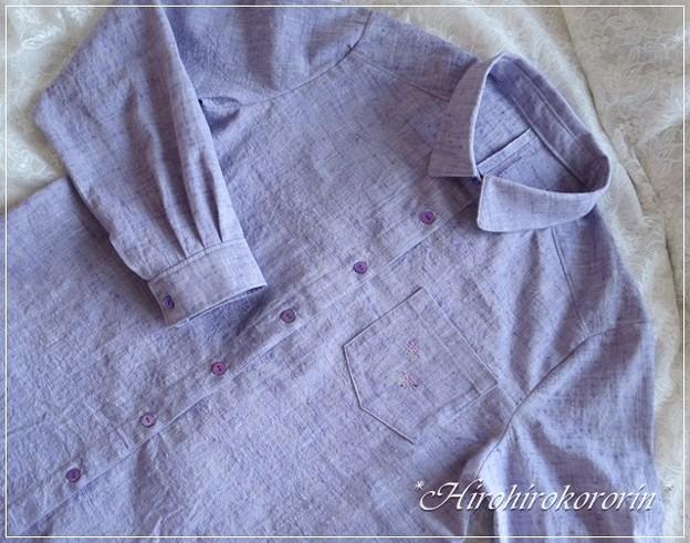 ラベンダーシャツ