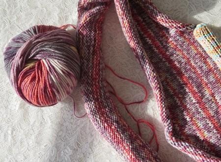ショール編み始め