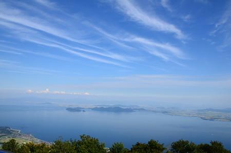 蒼い空、青い湖