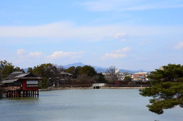 写真: 八丈ヶ池と愛宕山