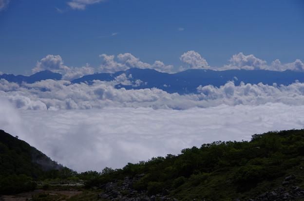 南アルプスと雲海