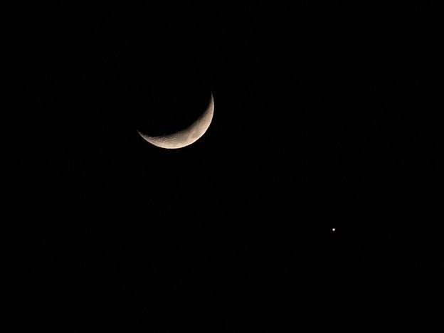 三日月&金星(合成)