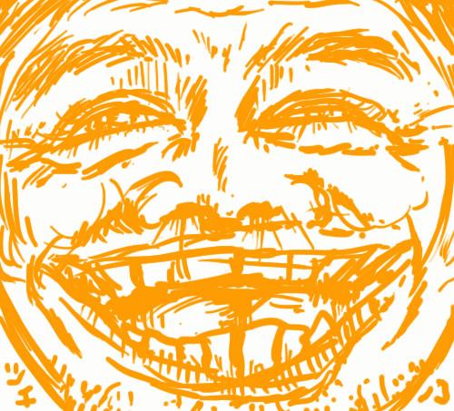 ツチノコ太郎の笑顔