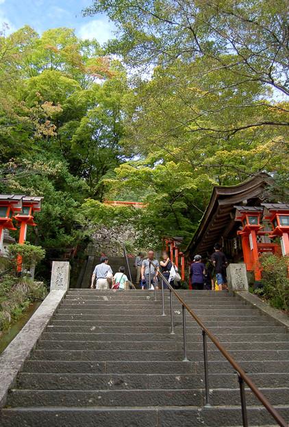 鞍馬寺の階段2