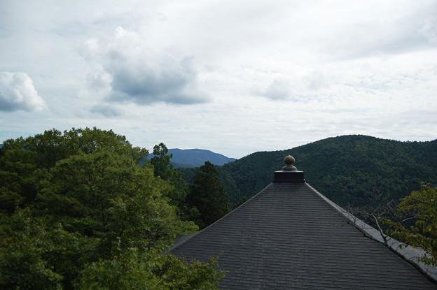 鞍馬寺から比叡山を望む