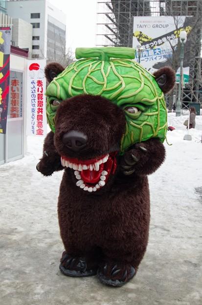 夕張メロン熊  雪まつりにて (1)