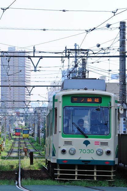 新旧電車が行き交う飛鳥山