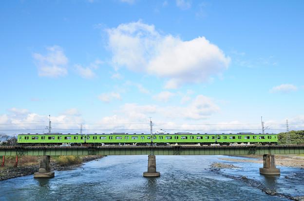 103系電車サイドビュー