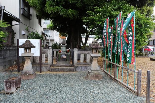 長谷寺の裏の山本勘助の遺髪墓