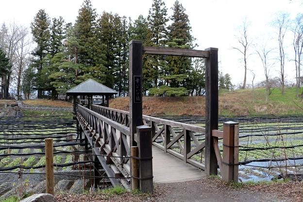 大王畑に架かる「幸いのかけ橋」