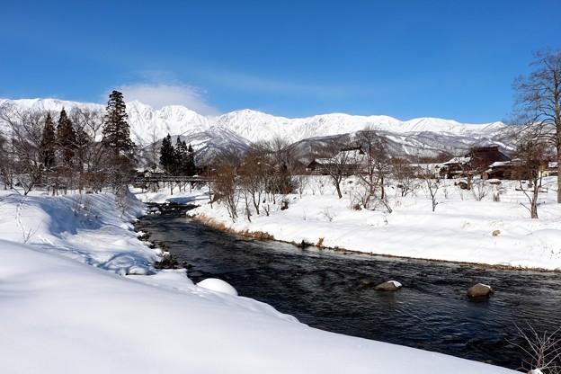 白馬連峰と姫川