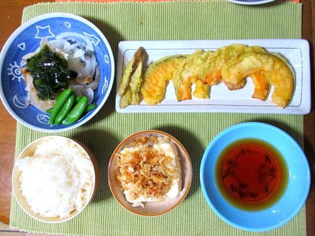 天ぷら定食…