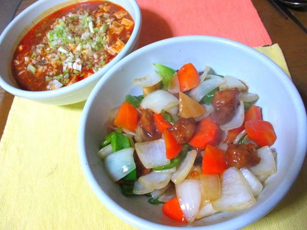 酢豚&麻婆豆腐