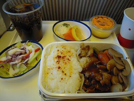 バンコク旅行・機内食