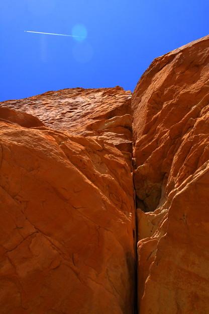 Red Rockと飛行機雲♪