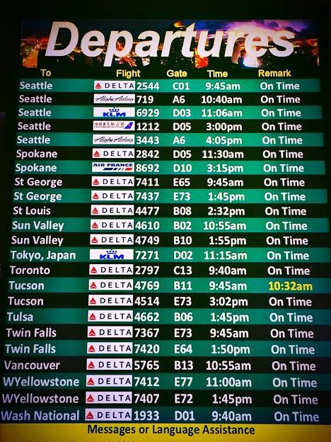 Departures Scoreboard