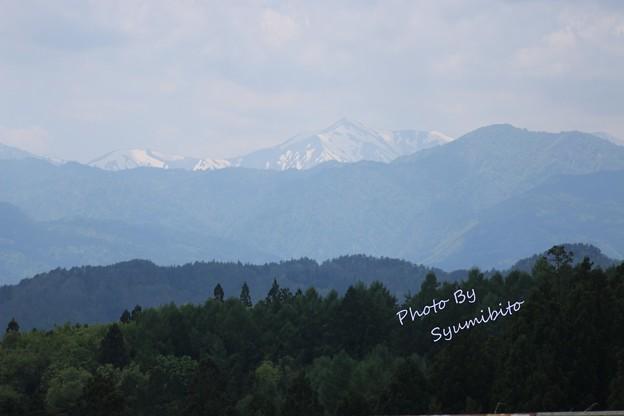 国道348号線~朝日連峰を望む 2016.5.14