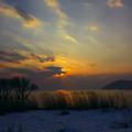写真: 湖北の夕景