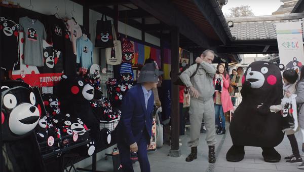 Photos: タモリ&くまモン、トミー・リー・ジョーンズ異色のスリーショット!ボス新CM「プレミアム熊本」篇が公開!