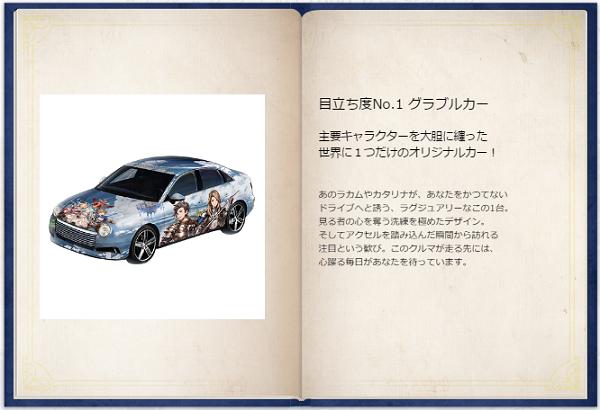 えらべるグラブル!1000万円カタログ 商品「目立ち度No.1 グラブルカー」