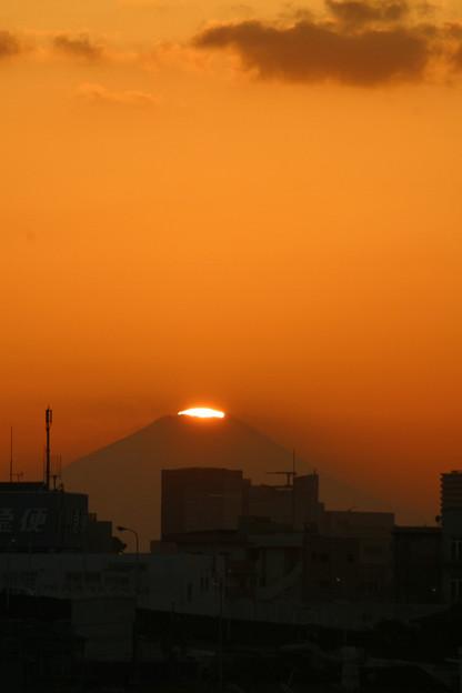 ダイヤモンド富士荒川河川敷よりA