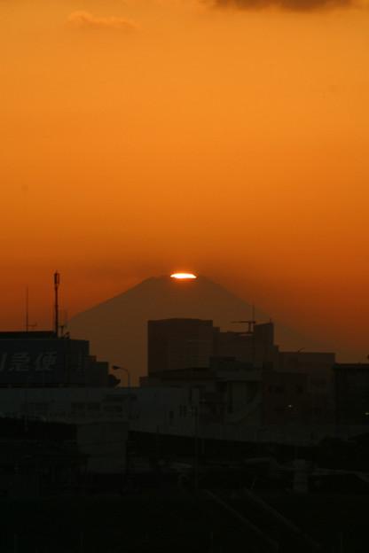 ダイヤモンド富士荒川河川敷よりC