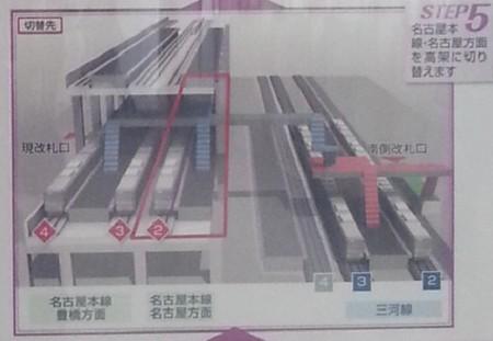 知立駅高架化工事第5段階