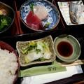 Photos: 161011【旬彩 雪竹】雪竹膳/(焼魚・刺身・角煮)/850円(千代田区神田司町2-15-1)