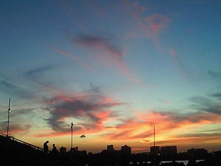 きれいな夕焼けです!