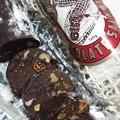 Photos: チョコレートサラミ。イタリアの伝統的なお菓子なのかな?ワインに合いそう