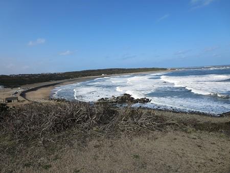 波が荒い。犬吠埼。