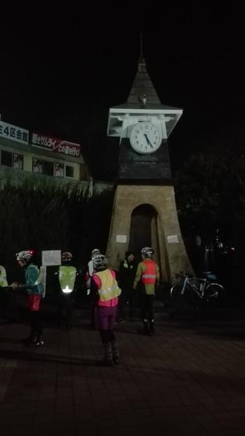 写真: スタート地点 鎌倉西口 時計台