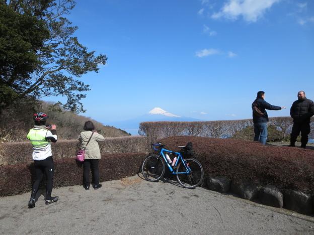 写真: 達磨山レストハウスから富士