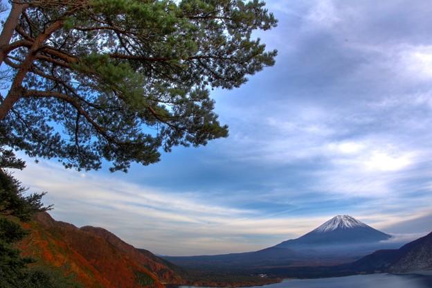 本栖湖より富士山