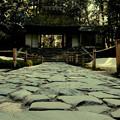 茅葺屋根の古刹