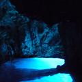 写真: 蒼い洞窟
