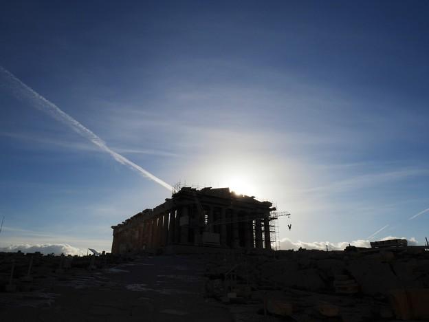 パルテノン神殿から日が昇る