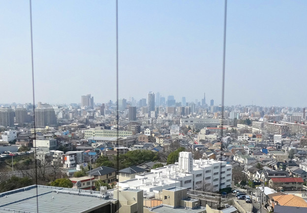東山給水塔の一般公開 No - 044:展望階から見た景色(名駅ビル群)