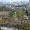 写真: 東山給水塔の一般公開 No - 052:展望階から見た景色(日泰寺の慰霊碑)
