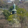写真: 東山給水塔の一般公開 No - 054:展望階から見た景色(日泰寺の慰霊碑)