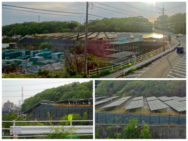 国道155号沿いの太陽光発電システム(春日井市金ケ口町)No - 7