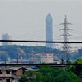 写真: 桃花台から見た東山スカイタワー