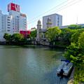堀川:松重橋から見た松重閘門 - 2