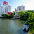 松重橋から見た松重閘門(チルトシフト、フィルター有り)- 4