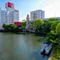 松重橋から見た松重閘門(チルトシフト、フィルター有り)- 5
