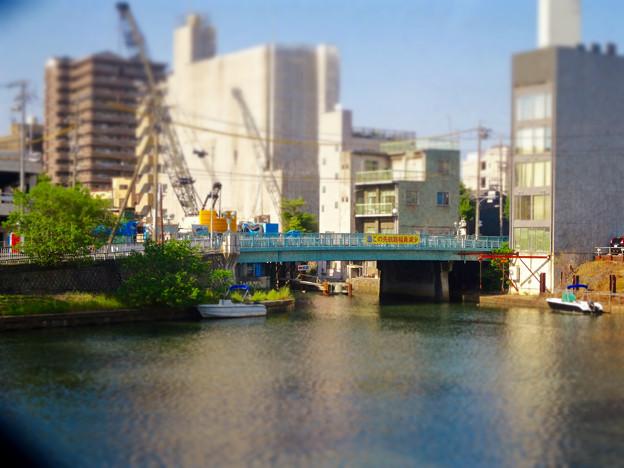 松重閘門から見た松重橋(ミニチュアライズ、フィルター有り)- 2