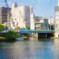 松重閘門から見た松重橋(ミニチュアライズ、フィルター有り)- 3
