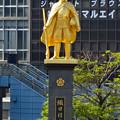 写真: JR岐阜駅前の織田信長像(昼) - 2