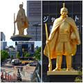 Photos: JR岐阜駅前の織田信長像(昼) - 9