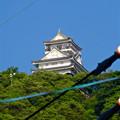 写真: 金華山の麓から見上げた岐阜城 - 2